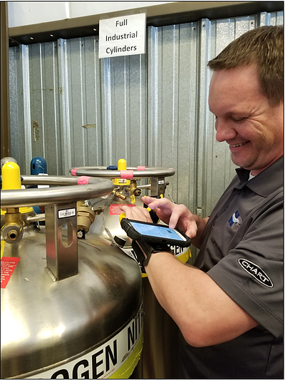 Helget Gas Products Trucks Fill Plant Operations using TIMS Software Mobile Application