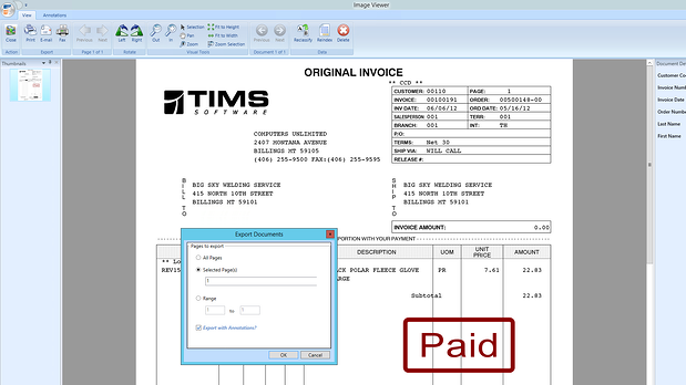 Imaging TIMS Industrial Welding Gas Software