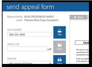 TIMS HME Software | Denial Management - Send Appeal Form