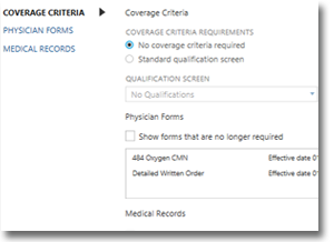 TIMS HME Software | Documentation Coverage Criteria