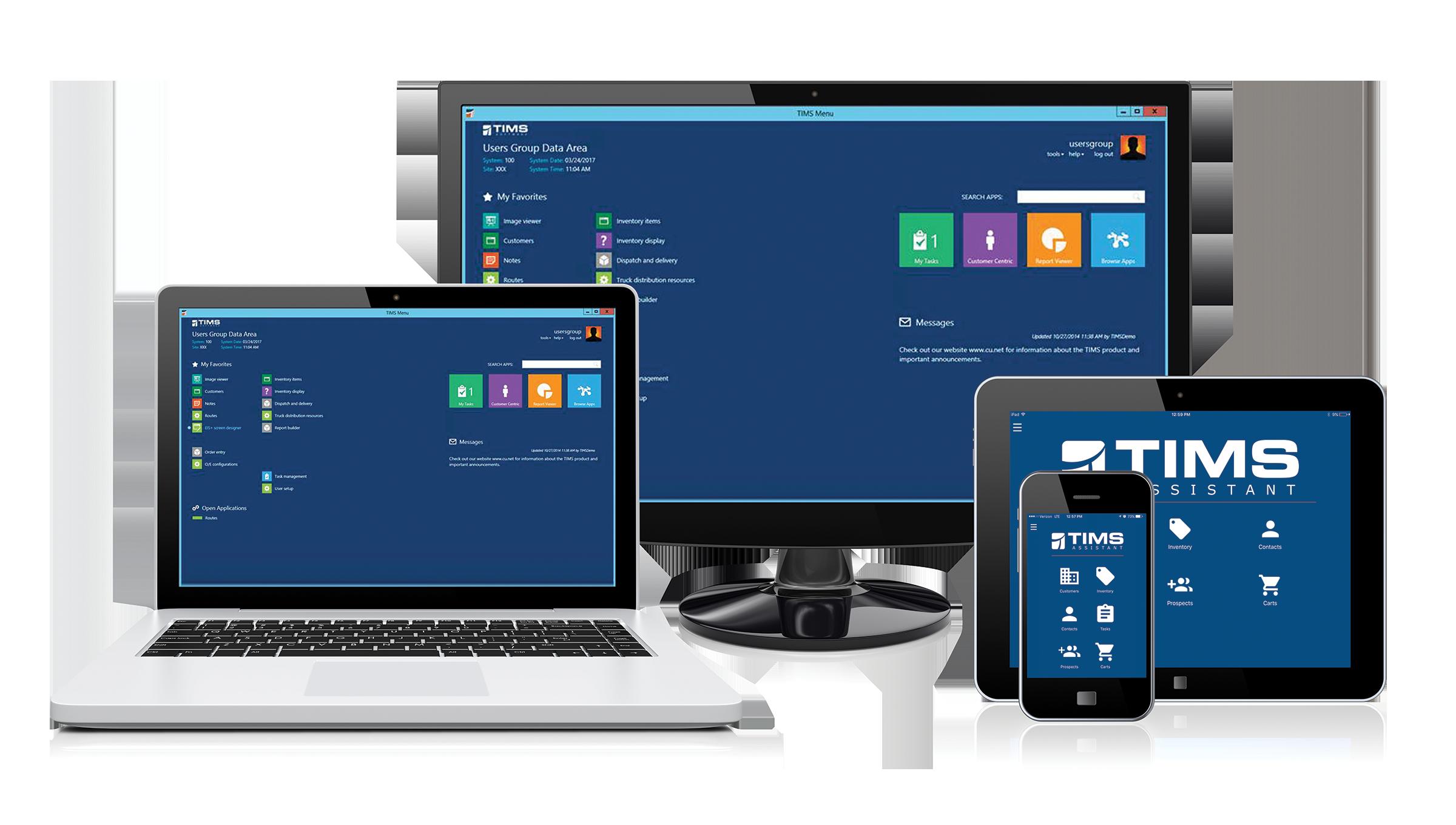 TIMS Software HME Providers Revenue Cycle Management Desktop Laptop Tablet Smart Device