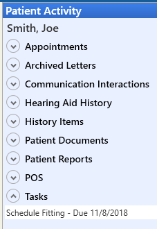 User Task Notes in Patient Record